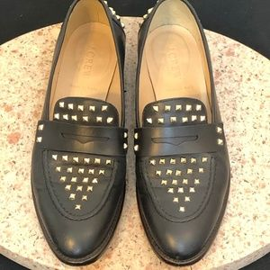 J. Crew Collection Studded Penny Loafers size 7
